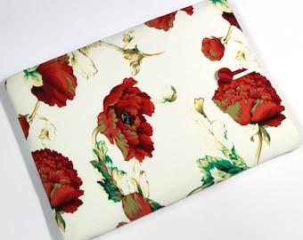 Custom size Red Poppies Laptop Case for MacBook Air, Macbook Pro or Retina display, 11 in, 13 in, 15 in, laptop sleeve, red flowers