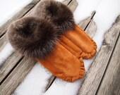 Leather Suede fur moccasins (custom)