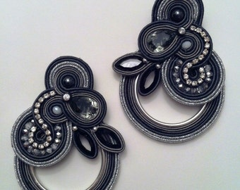"DIY soutache tutorial: orecchini ""Castle of glass"""