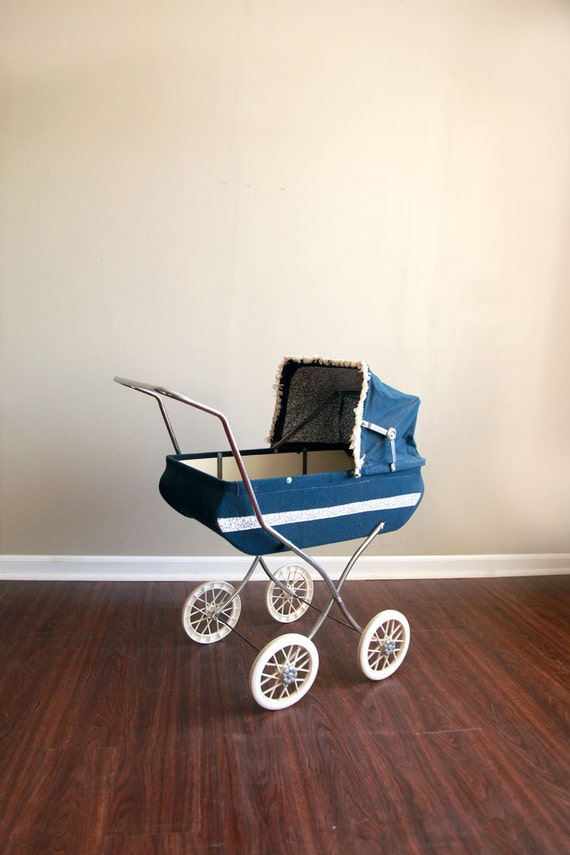 Vintage Navy Baby Doll Stroller Pram By Caprockbaby On Etsy