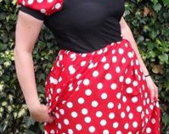 Minnie Mouse Costume Handmade in any size