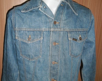Vintage 70's Jeans Jacket GENUINE SEARS ROEBUCKS Made in usa, Size 40 R ExcellentCondition