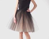 Champagne tutu skirt, Skirt with black dots, Handmade tutu skirt, High quality skirt, petticoat