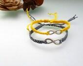 Infinity friendship  Bracelet Silver love bracelet  Double Infinity macrame Bracelets For Couples  Wish Bracelet couple Bracelet gift idea