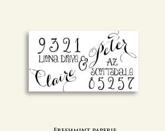 Items Similar To Printable Chevron Return Address Labels