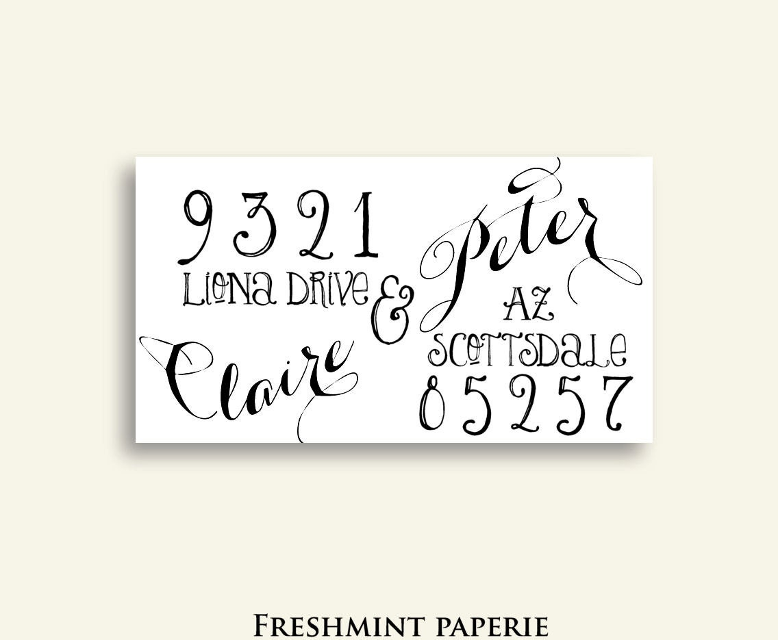 Calligraphy Return Address Labels Printable Address Labels