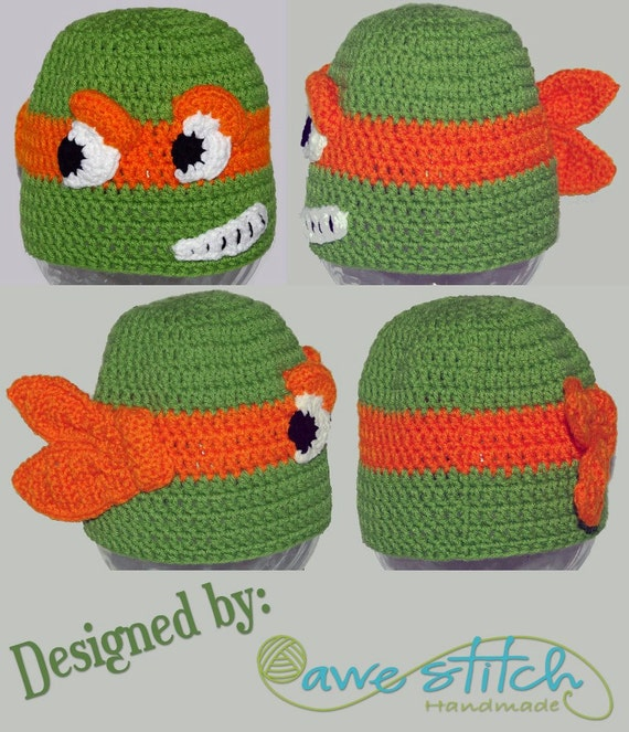 Free Crochet Teenage Mutant Ninja Turtle Pattern : A Teenage Turtle Crochet PATTERN INSTANT DOWNLOAD Character