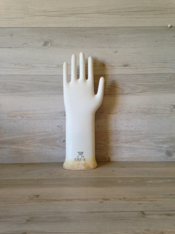 Vintage Porcelain Glove Mould Rosenthal Germany Industrial Display Jewellery Shop Prop