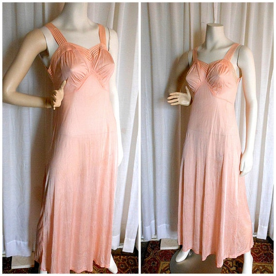Glamour Gowns Tagged Size S The Deco Haus: Vintage 1950s Lorraine Nightgown Gown Perfect By