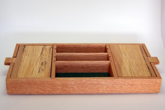 men's wooden dresser valet tray 1