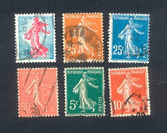 1903 to 1960 - French Vintage Postage Stamps - The Sower
