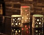 Handmade ceramic tealight
