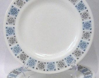 Vintage set of 3  Pyrex JAJ Crown Dinnerware - Plate Pattern Chelsea