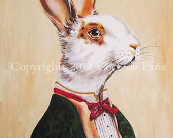 Rabbit Art Print, Rabbit Print, Rabbit Bunny Print, Rabbit Art, Bunny Print, Rabbit Wall Art, Wall Art, Wall Decor,Vintage Rabbit,Art Print