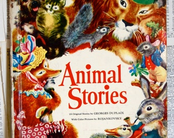 Vintage Childrens Book, Animal Stories, A Big Golden Book