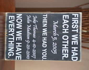 Mother's Day Gift - First We Had Each Other Personalized Sign - Gift For Mom - Mothers Day - Grandma Gift - Mom Gift - Gift For Her