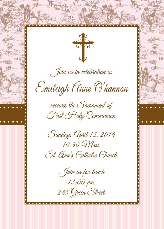 First Holy Communion Invites Amazing Invitation Template Design