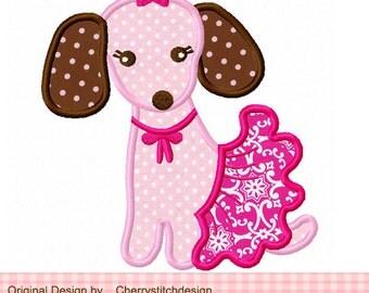 puppy fun 02 Applique -4x4 5x7 6x10-Machine Embroidery Applique Design