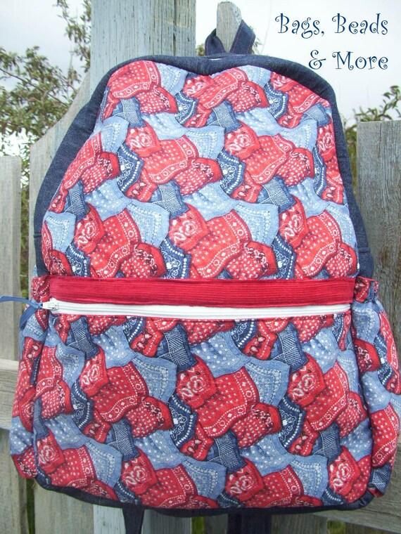 Childrens Western Bandana Backpack