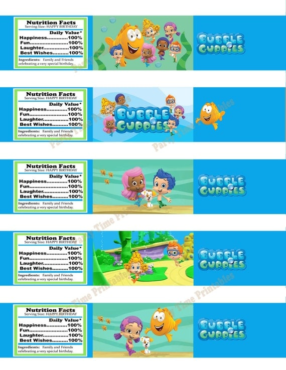 Unavailable listing on etsy - Bubble guppies birthday banner template ...