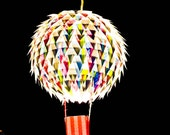 Hot Air Balloon Hanging Light Shade - Personalised in child's name, kids lighting, childrens rooms - MelsCreativeDesigns
