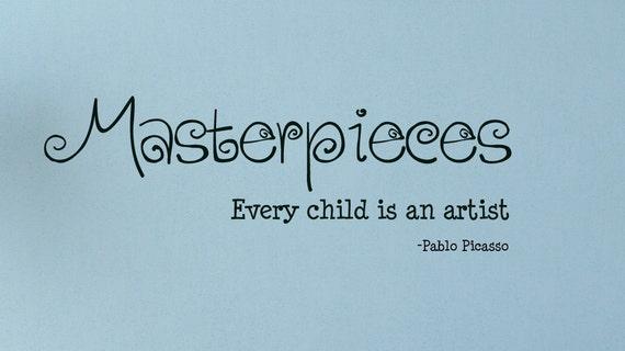 Masterpieces Every Child Is An Artist Children By Newyorkvinyl