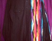 Vtg. 80s Bright Fire Roper Shirt