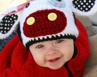 Moo Cow Crochet Hat PDF Pattern