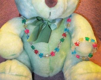 CHILDRENS GLITTER STAR Necklace Set