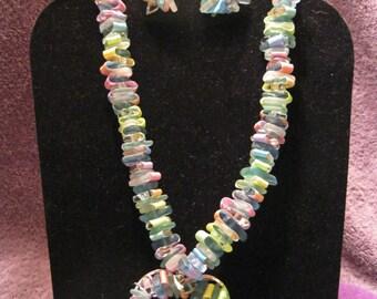 RAINBOW  RIBBON THREADED Jewelry Set