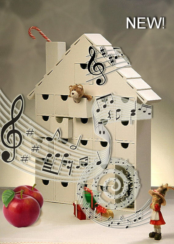 New musical wooden advent calendar diy tune edelweiss How to build a wooden advent calendar