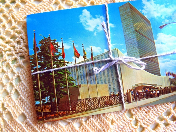 Collection of Vintage New York City and State Postcards, 1960's Tourist Views, Scrapbooking, Rockefeller, Chrysler Building, Hotel Americana