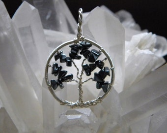 Handwrapped Hematite Tree of Life- Reiki Charged