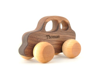 Any Personalized Wooden Car - Wooden Toy for Babies, Toddlers, and Preschoolers - Montessori Inspired Toys - Gift for a Boy
