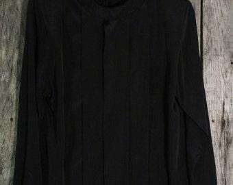 Vintage First Glance Black Blouse