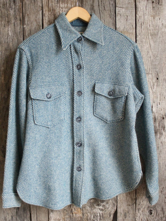 Vintage L.L. Bean Women&39s Wool Shirt/Jacket by SilverTongueShop