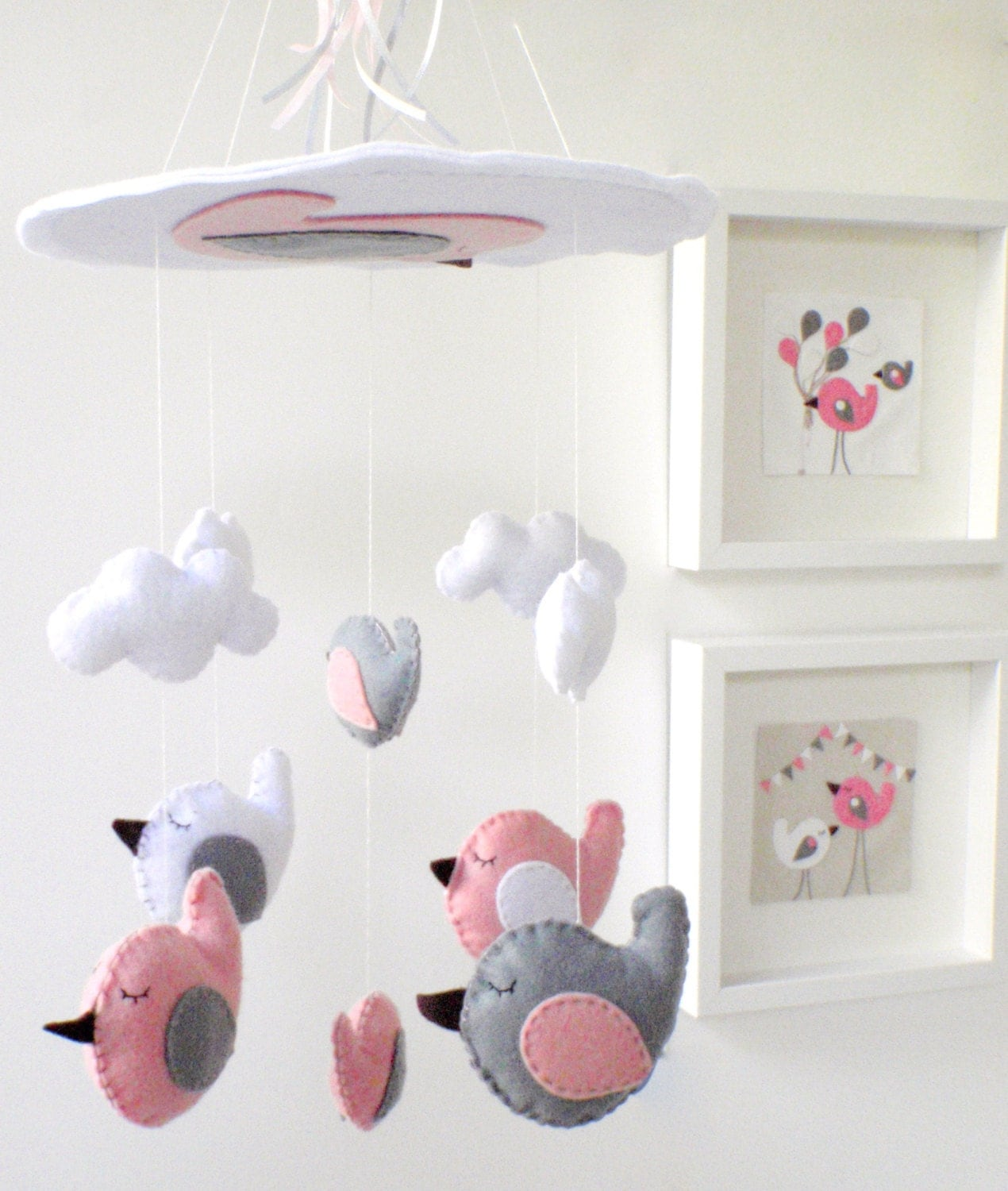baby mobile birds birds baby mobile baby crib mobile. Black Bedroom Furniture Sets. Home Design Ideas