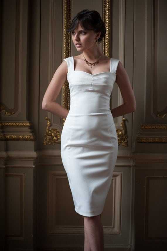 Unavailable listing on etsy for Short fitted wedding dresses