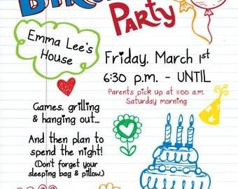 Teen Birthday Invitation