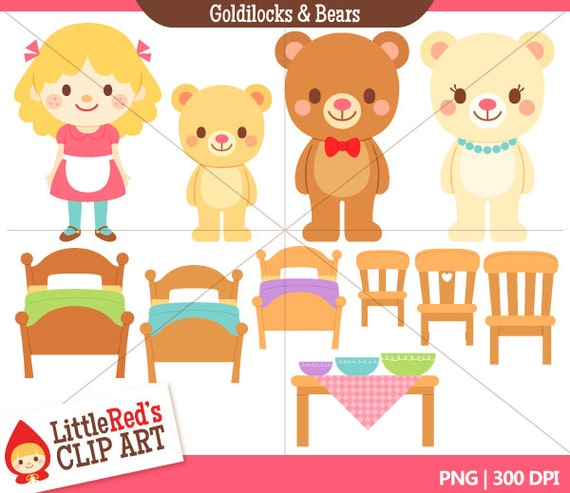 INSTANT DOWNLOAD - Goldilocks and the Three Bears Combo Set - Color ...