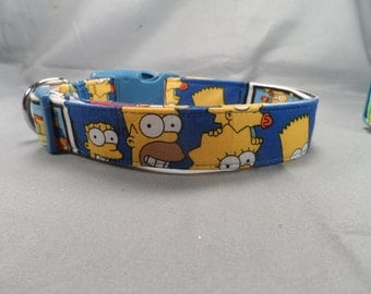 Simpsons Dog Collar
