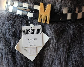"Old Stock- 1980s ""M"" Initial Redwall Moschino Belt - Rare"