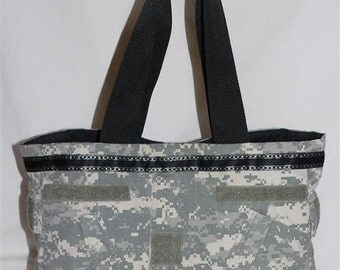 Nelson Tote in Military Fabric