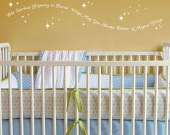 Dream Big Little One Wall Decal Nursery Quote Decal Gold   Wall Decals  Quotes For Nursery