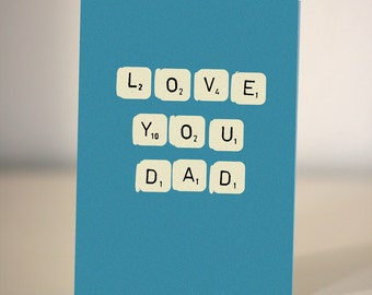 I love you Dad card  - Card for Dad - Father's Day card