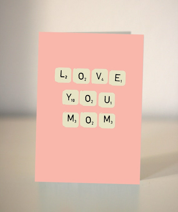 Love you Mom/Mum Birthday card for Mom or Mum / Just to say