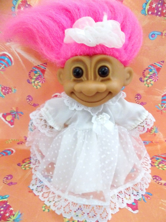 1990s Troll Dolls Troll doll bride figure by