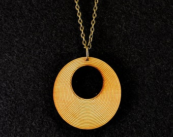 Striped Circle Necklace