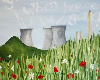 """Didcot Towers """"You'll Miss Us""""  Giclee Print"""