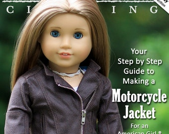 Pixie Faire Liberty Jane Motorcycle Jacket  Doll Clothes Pattern for 18 inch American Girl Dolls - PDF